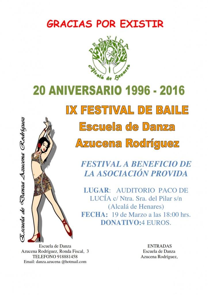 Cartel IX Festival bailes 2016