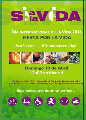 Día Internacional de la Vida: SÍ A LA VIDA